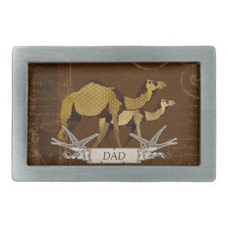 Hebilla del cinturón del papá de los camellos hebillas cinturón rectangulares