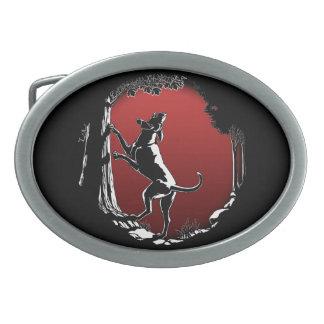 Hebilla del cinturón del perro de caza de la hebil hebilla de cinturon oval