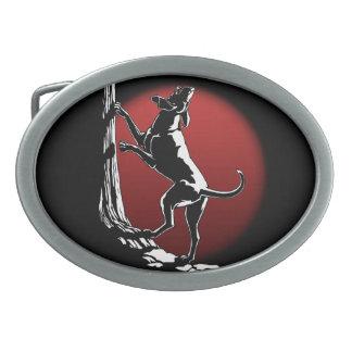 Hebilla del cinturón del perro de caza de la hebil hebillas de cinturón ovales