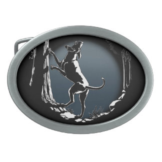 Hebilla del cinturón del perro de caza de la hebil hebillas de cinturon ovales