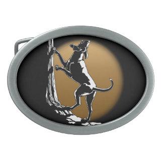 Hebilla del cinturón del perro de caza de la hebil hebilla de cinturón oval