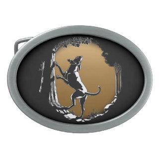Hebilla del cinturón del perro de caza de la hebillas de cinturón ovales