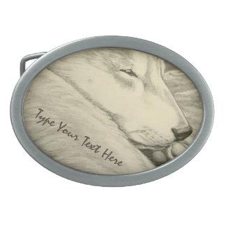 Hebilla del cinturón del perro el dormir de la heb hebillas de cinturon ovales
