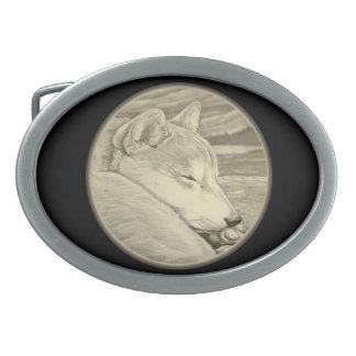 Hebilla del cinturón del perro el dormir de la heb hebillas cinturón ovales