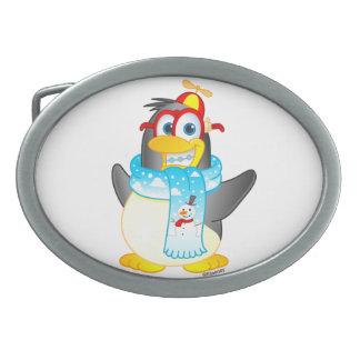 Hebilla del cinturón del pingüino del giro hebilla cinturón oval