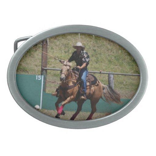Hebilla del cinturón del polo del vaquero hebillas de cinturon ovales