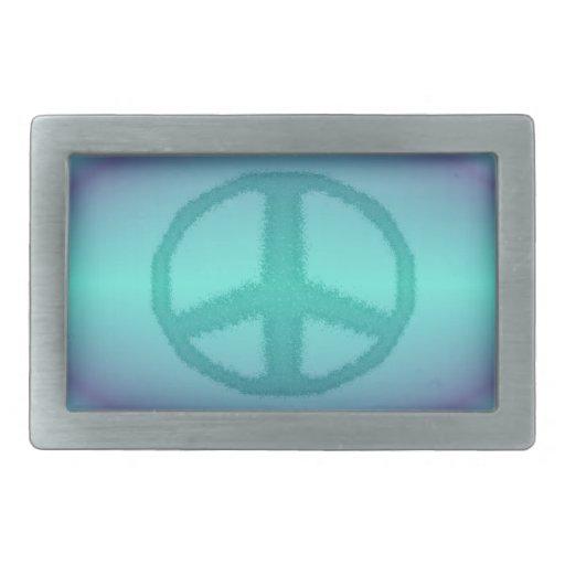 Hebilla del cinturón del signo de la paz hebilla de cinturon rectangular