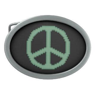 Hebilla del cinturón del signo de la paz hebillas cinturon ovales