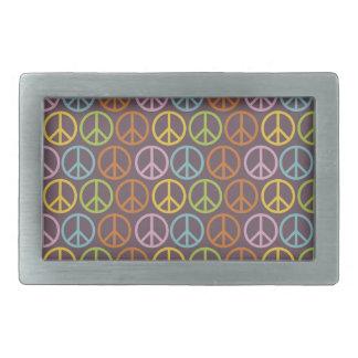 Hebilla del cinturón del signo de la paz hebillas cinturon rectangulares