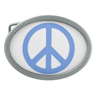 Hebilla del cinturón del signo de la paz. Separe l Hebilla De Cinturón Oval