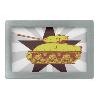 Hebilla del cinturón del tanque (starburst) hebillas cinturon rectangulares