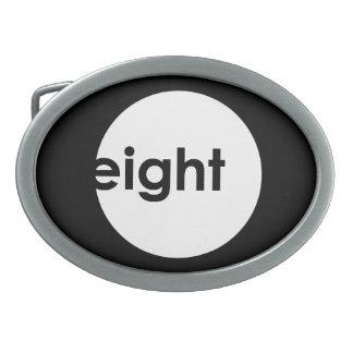 Hebilla del cinturón del texto de ocho bolas (luz) hebilla cinturon