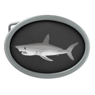 Hebilla del cinturón del tiburón hebillas de cinturón ovales