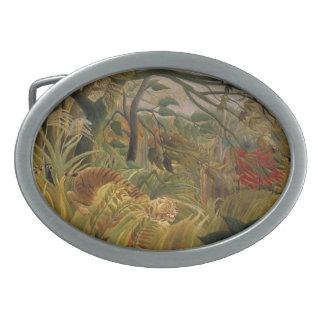 Hebilla del cinturón del tigre de Rousseau Hebilla Cinturon Oval