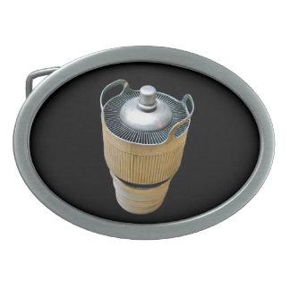 Hebilla del cinturón del tubo de vacío del poder hebillas de cinturón ovales