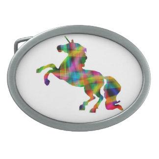 Hebilla del cinturón del unicornio del arco iris hebillas cinturon ovales