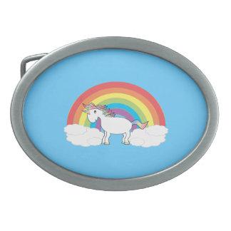 Hebilla del cinturón del unicornio hebillas cinturon ovales