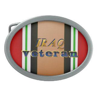 Hebilla del cinturón del veterano de Iraq Hebillas De Cinturón Ovales