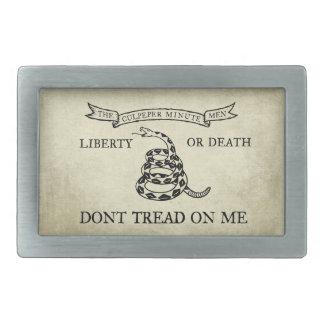 Hebilla del cinturón del vintage de la bandera de hebilla cinturon rectangular