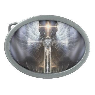 Hebilla del cinturón divina del arte del fractal d hebilla cinturón oval