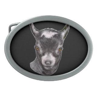 Hebilla del cinturón   enana de la cabra hebilla de cinturon oval