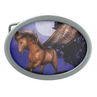 Hebilla del cinturón encantada de Pegaso Hebilla Cinturon Oval