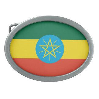 Hebilla del cinturón etíope de la bandera hebilla de cinturon oval