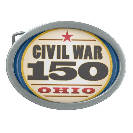 Hebilla del cinturón fabulosa de la guerra civil hebilla cinturón oval