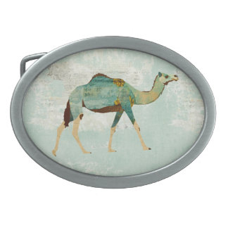 Hebilla del cinturón floral azul del camello hebilla cinturon