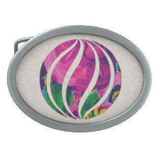 Hebilla del cinturón floral del adorno de la bola hebillas cinturón ovales