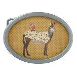 Hebilla del cinturón floral del burro y del búho hebillas de cinturon ovales