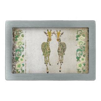 Hebilla del cinturón floral del jade de oro de las hebilla de cinturon