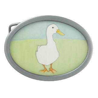 Hebilla del cinturón fresca del pato hebilla cinturón oval