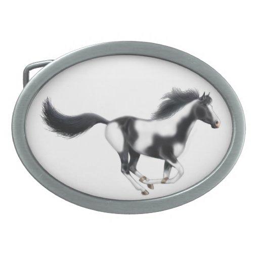 Hebilla del cinturón galopante del caballo de la p hebillas cinturon ovales