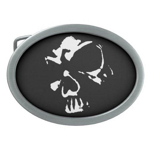 Hebilla del cinturón gótica del cráneo hebillas cinturón ovales