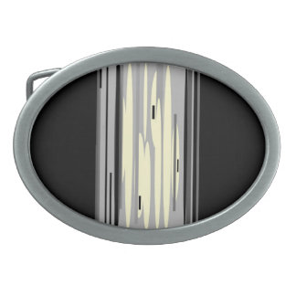 Hebilla del cinturón gris negra de Cream>Artistic Hebilla De Cinturon Oval