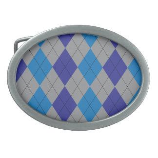 Hebilla del cinturón gris y azul de Argyle Hebilla Cinturon