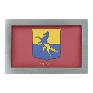 Hebilla del cinturón histórica del escudo de Greco Hebillas Cinturón Rectangulares