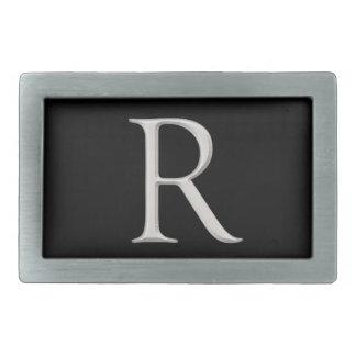"""Hebilla del cinturón inicial aumentada plata de """"R Hebilla Cinturon Rectangular"""