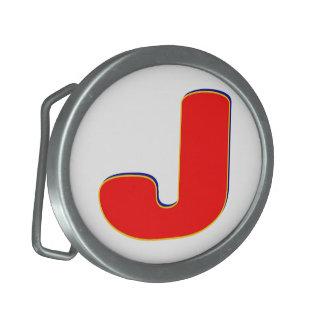 Hebilla del cinturón inicial de J Hebilla Cinturon