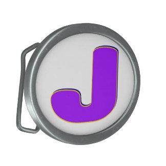 Hebilla del cinturón inicial de J Hebillas De Cinturon Ovales