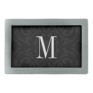 Hebilla del cinturón - inicial negra del escudo hebillas de cinturon rectangulares