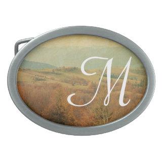 Hebilla del cinturón italiana del monograma del hebilla de cinturón oval