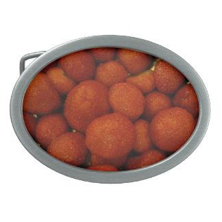 Hebilla del cinturón jugosa de las fresas hebillas de cinturón ovales