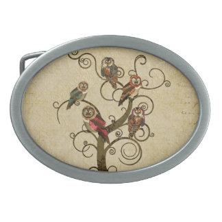 Hebilla del cinturón lamentable del árbol del búho hebilla de cinturon