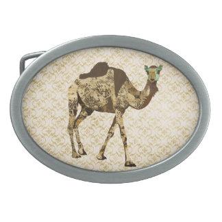 Hebilla del cinturón lamentable del camello del vi hebilla cinturón oval