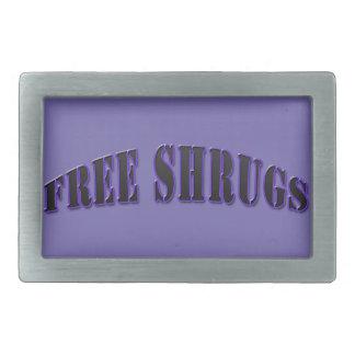 Hebilla del cinturón libre divertida púrpura de hebillas cinturon rectangulares