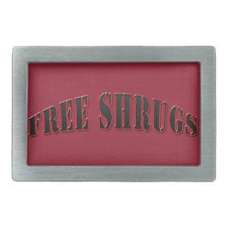 Hebilla del cinturón libre divertida roja de los hebillas cinturon rectangulares