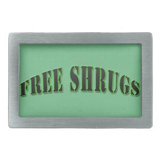 Hebilla del cinturón libre divertida verde de los hebilla cinturón rectangular