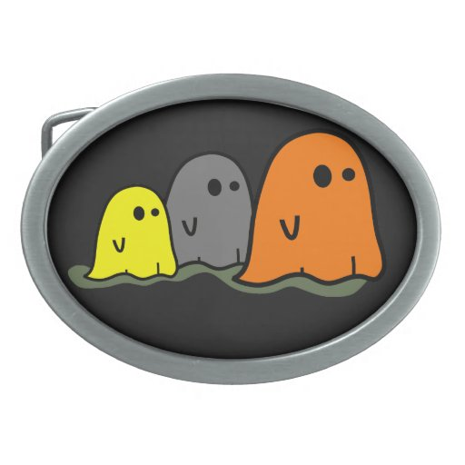 Hebilla del cinturón linda de los fantasmas de Hal Hebillas Cinturon Ovales